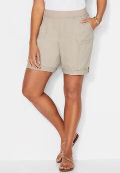 Knit Waist Cargo Short,