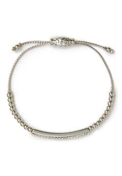 Rhinestone Bar Slider Bracelet,