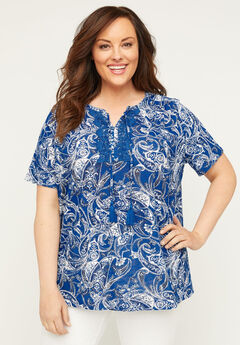 Daydream Top with Lace Applique,
