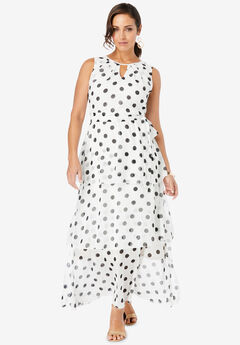 Ruched Neck Georgette Maxi Dress,