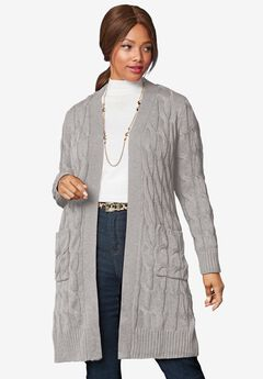 Cable Duster Sweater,
