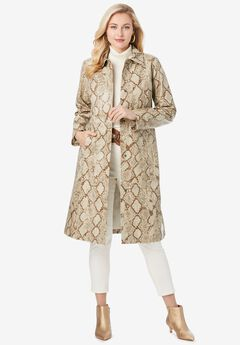 Trench Coat, PALE BROWN SNAKE