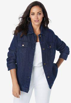 Classic Cotton Denim Jacket, INDIGO