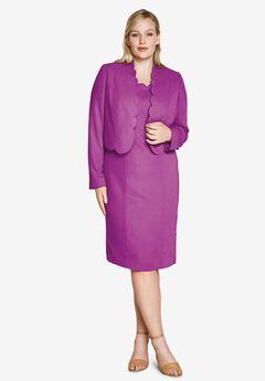 Two-Piece Dress, PURPLE MAGENTA