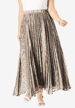 Pleated Maxi Skirt,