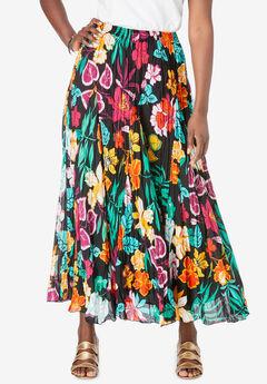 Flowing Crinkled Skirt,