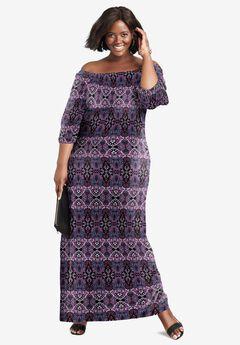 Blouson Maxi Dress,