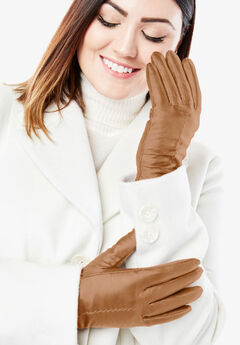 Leather Gloves, BROWN MAPLE