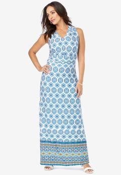 V-Neck Maxi Dress,