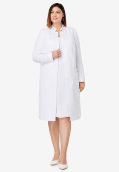 Embellished Jacket Dress, WHITE