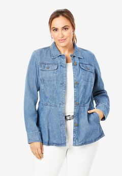 Peplum Denim Jacket,