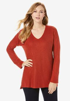 V-Neck Pullover Sweater,