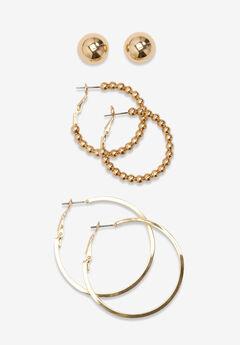 3-Piece Earring Set,