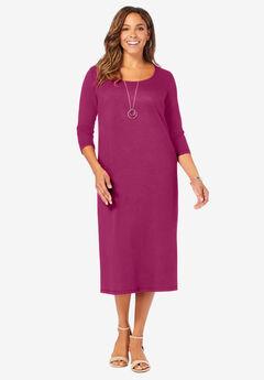 Knit T-Shirt Dress,