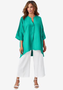 Hi-Low Linen Tunic,