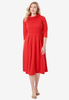 Stand Collar Dress,