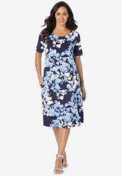 A-Line Jersey Dress,