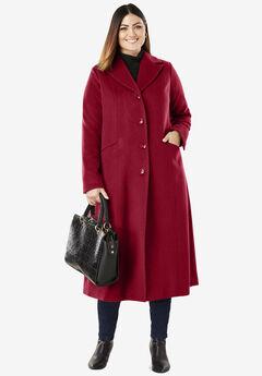 Full Length Wool Blend Coat,