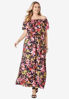 Off-The-Shoulder Maxi Dress,