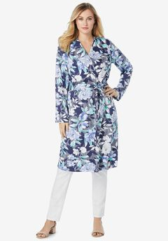 Tie-Front Duster, NAVY STRIPE FLORAL