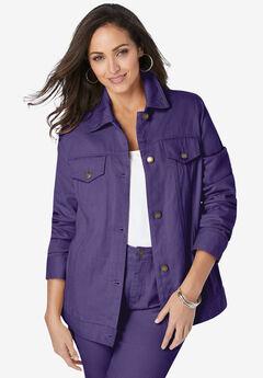 Classic Cotton Denim Jacket, MIDNIGHT VIOLET