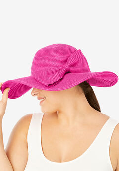 Floppy Hat With Bow, TROPICAL RASPBERRY