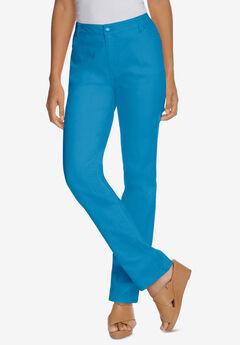 True Fit Straight Leg Jeans, BRILLIANT BLUE