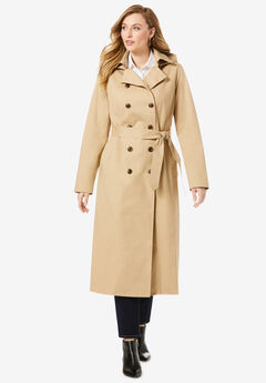 Double Breasted Long Trench Coat,