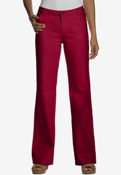 True Fit Bootcut Jeans , RICH BURGUNDY