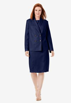 2-Piece Jacket Dress, NAVY