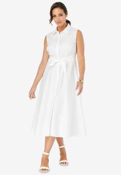 Cotton Shirtdress,