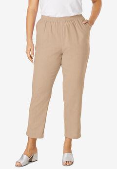Linen Ankle Pant, NEW KHAKI