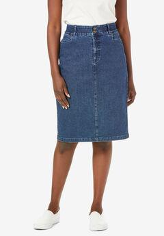 Tummy Control Denim Skirt,
