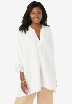 Hi-Low Linen Tunic,