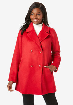 A-Line Peacoat, CLASSIC RED