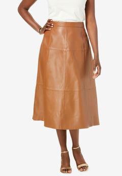 Leather Midi Skirt,