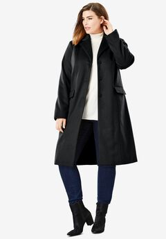 Notch Collar Coat, BLACK
