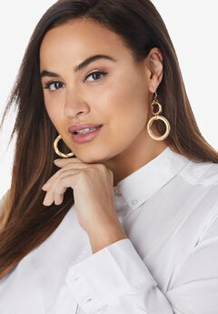 Circle Dangler Earrings,