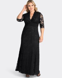 Screen Siren Lace Evening Gown,