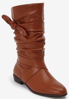 The Heather Wide Calf Boot , COGNAC
