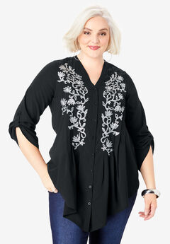 Glam Embellished Tunic,