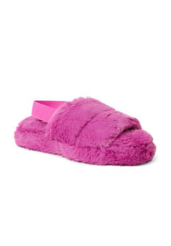 Luna Furry Slide W/ Elastic Strap Slippers,