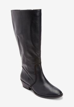 The Rio Wide Calf Boot , BLACK