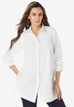 Lace Poplin Big Shirt,