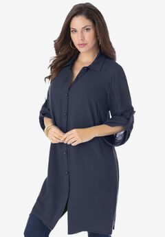 Tess Crinkle Big Shirt,