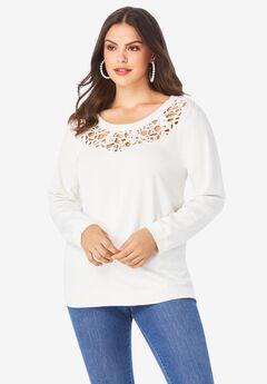 Open-Scroll Sweater,