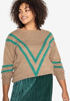 Chevron Stripe Pullover Castaluna ,