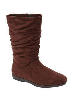 The Aneela Wide Calf Boot , BROWN
