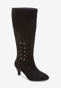 The Karter Wide Calf Boot , BLACK