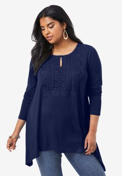 Lace-Front Ultra Femme Tunic,